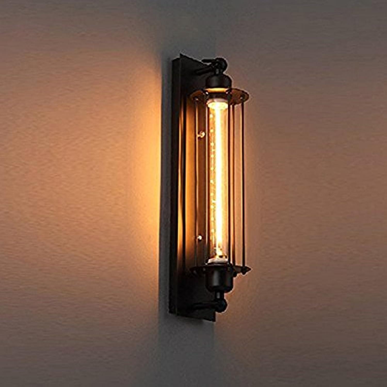 GUORZOM Vintage Edison Flute Wandleuchte - Schmiedeeisen Internet Cafe Restaurant Bar Gang Hotel LED-Licht