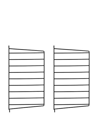 String System Wandleiter 50x30cm, schwarz Wandmontage 50x30cm 2er Set