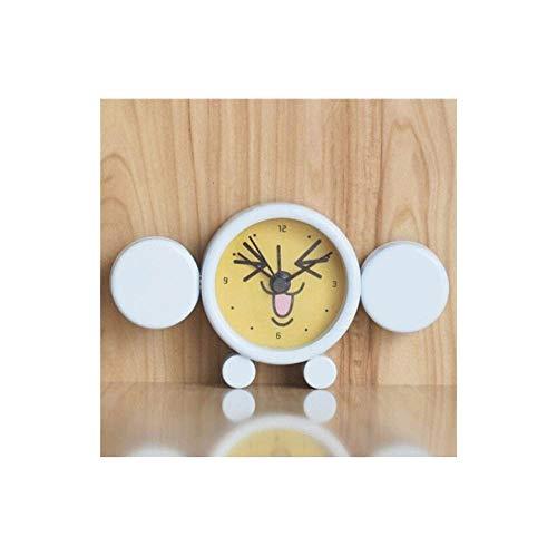 SCDZS Reloj de Mesa Reloj Despertador pequeño silencioso, Reloj de Cuarzo de Estilo Retro clásico, Armario de Escritorio Reloj Despertador de Viaje Junto a la Cama