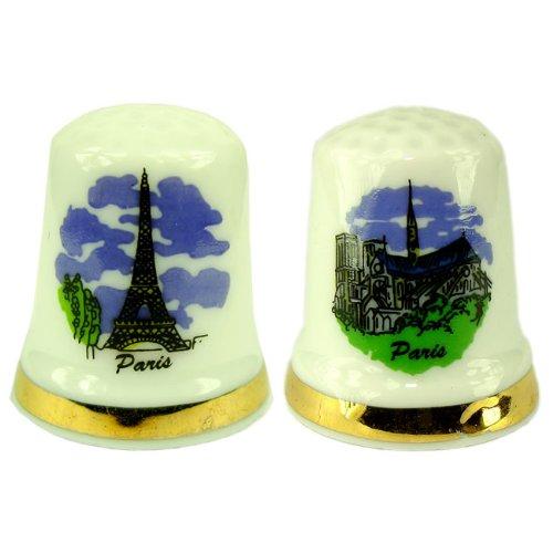 Souvenirs de France - 2 x Dés à Coudre Monuments de Paris