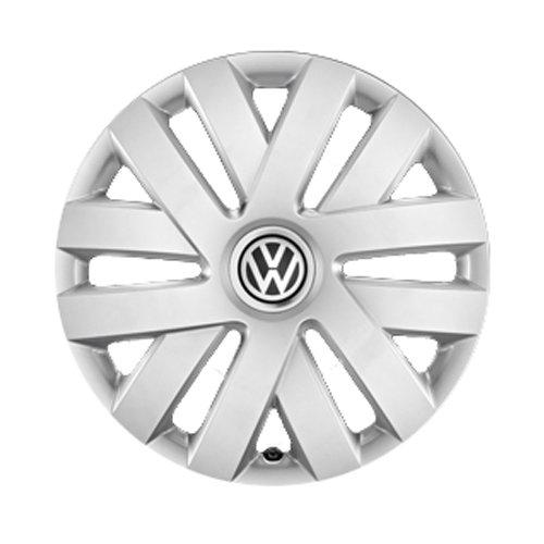 Volkswagen 6R0071455 Radkappen 4X Radblenden 15 Zoll Stahlfelgen Radzierblenden, für VW Polo 5 (6R/6C)