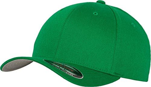 Flexfit Unisex Wooly Combed Unisex Kappe ohne Verschluss für Herren, Damen und Kinder Wooly Combed Baseball Cap, pepper green, L/XL (Herstellergröße: L/XL)