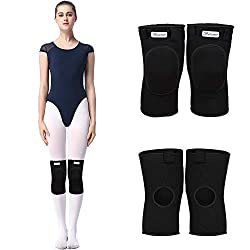 Kneepads Dancing Knee Pads Thick Sponge Collision Avoidance Elastic Anti-Slip Knee Pads Sports Protector for Kids and Adults Black S