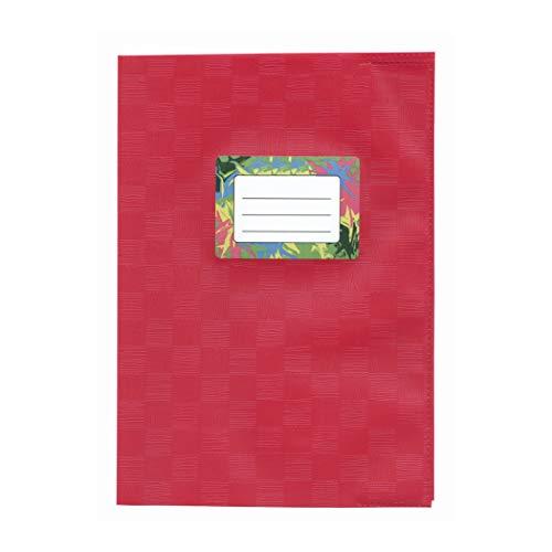 Heftumschlag - Buchumschlag A4 Weinrot mit Bastprägung