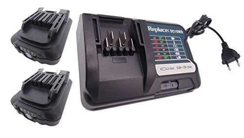 Ersetzen 2 Stück BL1041B akku 12v 4ah für DCM501 DCM501Z MP100D MP100DZ TL064D TL064DZ TD110D DC10SB BL1021B (BL1016) BL1020B BL1040B 197406-2 mit DC10WD Ladegerät