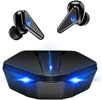 ワイヤレスイヤホン Bluetooth5.0 完全ワイヤレスイヤホン 超低遅延 マイク内蔵 ライト ノイズキャンセリング搭載 ゲーミング ブルートゥース イヤホン ゲーミング ゲームモード・音楽モード付け (ブラック)