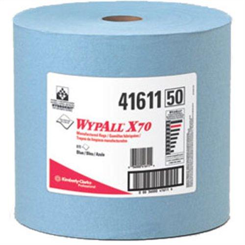 Kimberly-Clark 41611WYPALL X70Scheibenwischer, Jumbo Rolle, Blau, 31,8cm W x 34cm L 870, Tabelle