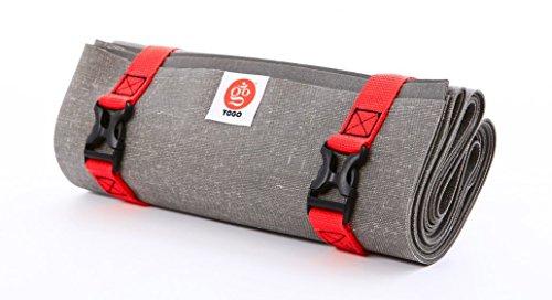 Yogo Tapis de yoga ultraléger pour voyage 2.0 Gris anthracite