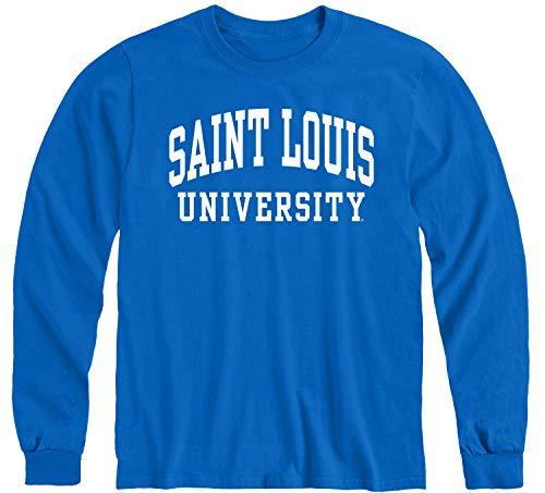 Ivysport Saint Louis University Billikens Long Sleeve Adult Unisex T-Shirt, Classic, Royal Blue, X-Large