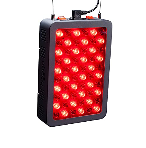 Red Light Therapy Device by Hooga, Red and Near Infrared 660nm 850nm, 60 LED Light Therapy Lamp, High Power, Clinical Grade for Face and Body Pain Relief, Skin, Anti-Aging, Energy, Recovery. HG300.