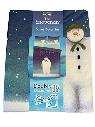 The Snowman The Movie - Juego de funda de edredón y fundas de almohada, diseño de muñeco de nieve, Doublé
