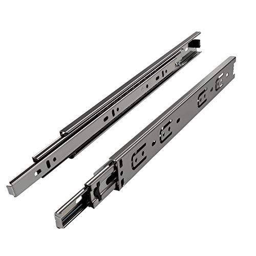 SOTECH 1 Paar (2 Stück) Vollauszüge KV2-35-H45-L600-NF Höhe 45 / Länge 600 mm/Schubladenauszüge mit Tragkraft 40 Kg