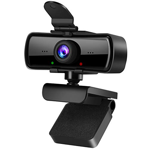 2040x1080 High Resolution HD Desktop Webcam with Microphone for PC Computer Monitor, USB Stream Camera with Privacy Cover 120 Degree Wide Angle Design for YouTube Tiktok Webcast Conferencing