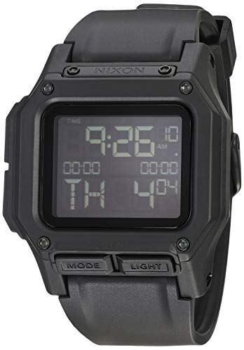 NIXON Regulus A1180 - All Black - 100m Water Resistant Men's Digital Sport Watch (46mm Watch Face, 29mm-24mm...