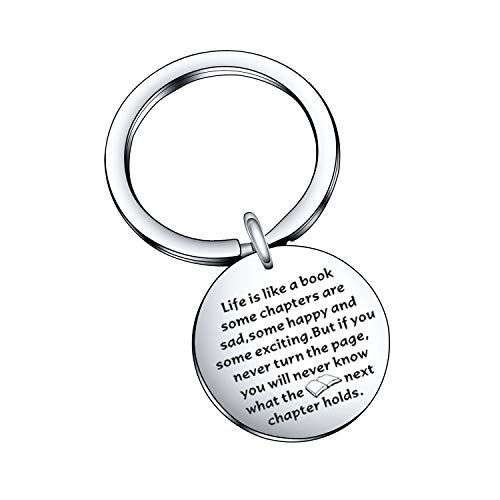 Book Lover Gift Author Gift Book Club Gift Librarian Gift Writer Jewelry Reading Lover Jewelry Writer Gift Author Jewelry Librarian Jewelry Book Club Jewelry Book Reader Keychain