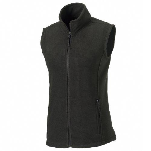 Russell Europe Damen Fleece-Weste / Fleece-Gilet, Anti-Pilling, durchgehender Reißverschluss (M) (Schwarz)