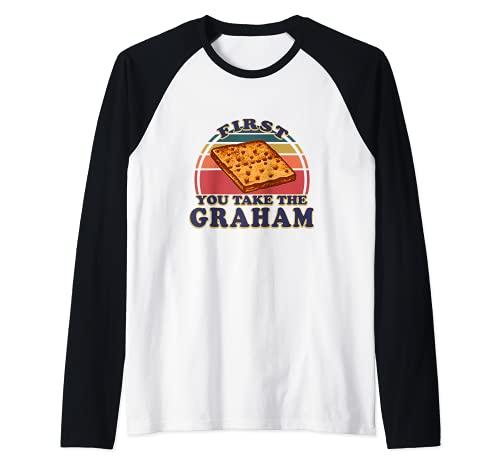 Smores Graham Cracker Retro S'mores Group Disfraz de Halloween Camiseta Manga Raglan