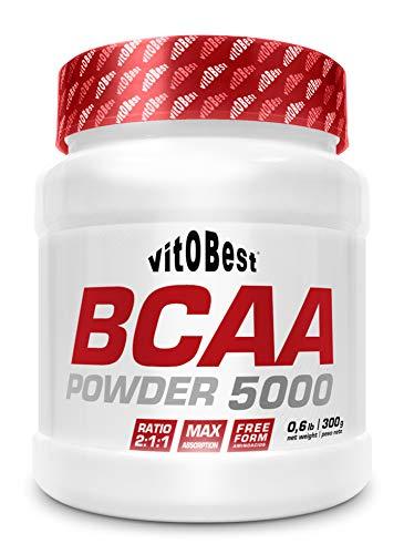 BCAA 5000 Powder - Aminoácidos Ramificados en Polvo y Cápsulas BCAA - Fuerte Recuperador Muscular - Suplementos Deportivos - Vitobest (Neutro, 300 Tablets) (Mora, 300g)