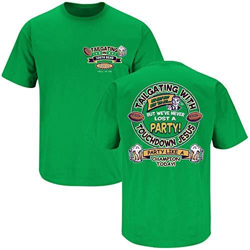 Smack Apparel Notre Dame Fans - Balón de fútbol Camiseta de manga corta de South Bend Green (Sm-5X), S, Verde Kelly