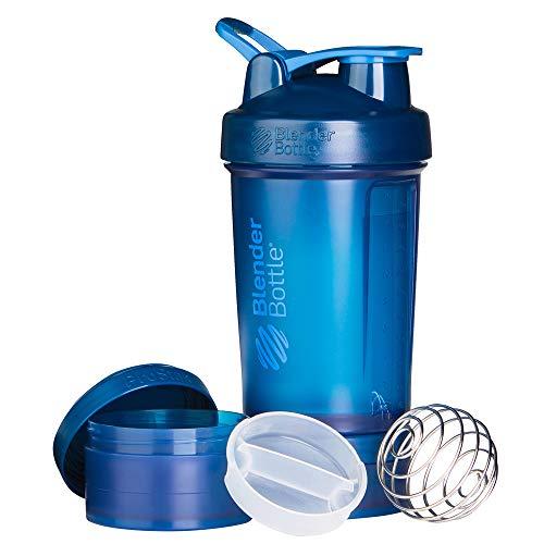 BlenderBottle ProStak Shaker per proteine 650 ml, Navy, 650 ml