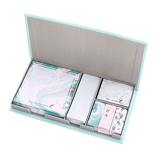 YLLAND Kawaii Memo Pad Set, Bookmark multifunción Sticky Notes Suministros Escolares Regalo LNNDE (Color : Bluegreen)
