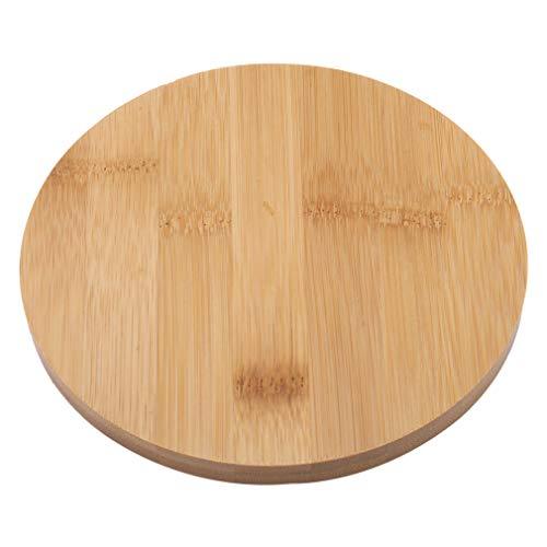 Pinhan – Soucoupe ronde en bambou pour pot de plantes grasses d'intérieur ou d'extérieur, Bois, Round Bamboo Tray, 15#