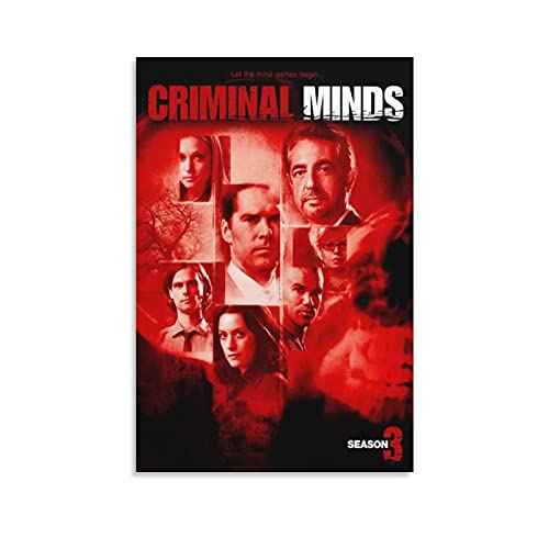LIUSHUANG - Poster da parete con mente criminali, drammatico, mistero, serie TV, idea regalo, decorazione per la casa, 60 x 90 cm