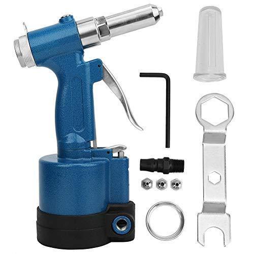 Juego de remachadora neumática de aire comprimido, pistola remachadora para remaches de 2,4 a 5,0 mm, pistola remachadora de aire comprimido para remaches de acero inoxidable y aluminio