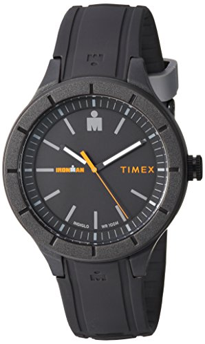 Timex TW5M16900 Ironman Essential Urban Analog 42mm Gray/Orange Silicone Strap Watch