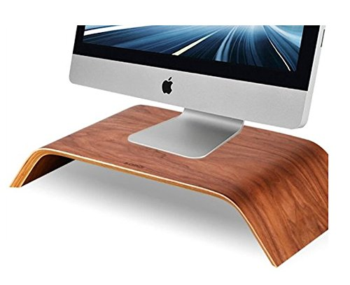 Samdi Monitorständer aus Holz, Riser Ständer, Regalständer für alle iMac und andere Computer LCD Monitore Blickfang auf Ihren Monitoren