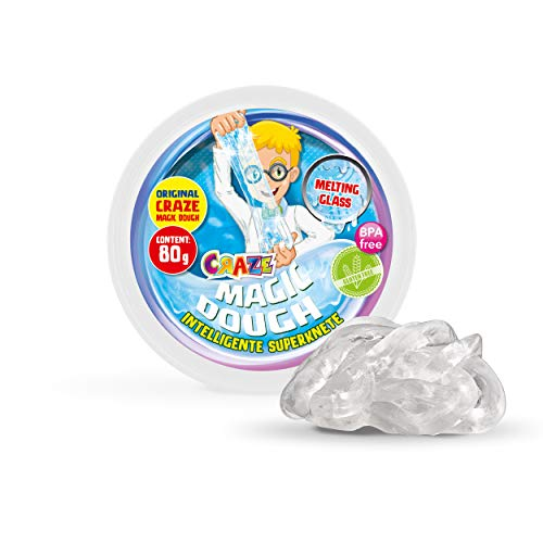 Craze 15872 Kinder Kinderknete Intelligente Superknete, Magic Dough, Flüssiges Glas, ca. 80 g in Dose, BPA-und glutenfrei