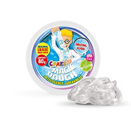 Craze 15872 Kinder Kinderknete Intelligente Superknete, Magic Dough, Flüssiges Glas, ca. 80 g in Dose, BPA-und glutenfrei