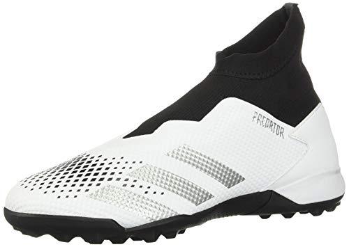 Zapatillas de fútbol Adidas Predator 20.3 Ii Turf para hombre, Blanco (Blanco/plateado/negro), 41 EU