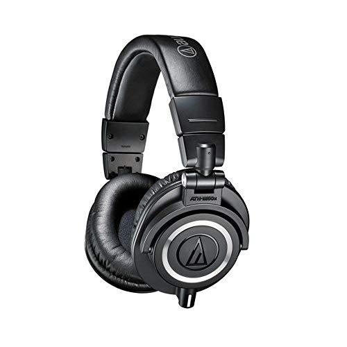 Audio-Technica ATH-M50x Professional Monitor Headphones + Slappa Full Sized HardBody PRO Headphone Case (SL-HP-07)