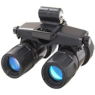 AGM 12AA9123353011 Model Apache A9 Aviator Gen 3 Level 1 Night Vision Goggle System, 1x Magnification, 40 Field of View, 1.3cy/mR System Resolution, 10 Tilt Adjustment, Focus Range 25cm to Infinity