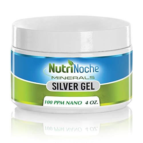 NutriNoche Colloidal Silver Mineral Gel -100 PPM - Colloidal Silver Gel (4 Ounces)