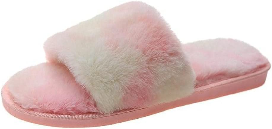 LUXMAX Beautiful Limited Special Price Award House Slippers,Plush Home Cotton Slippers