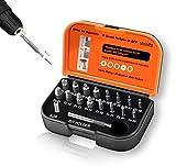 Extractor de tornillos dañados, kit de herramientas para quitar tornillos pelados con soporte magnético para puntas de extensión, adaptador de enchufe para Easy Out EX01