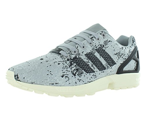adidas Mens Flux Weave Low Top Lace Up Running Sneaker, Grey, Size 10.0