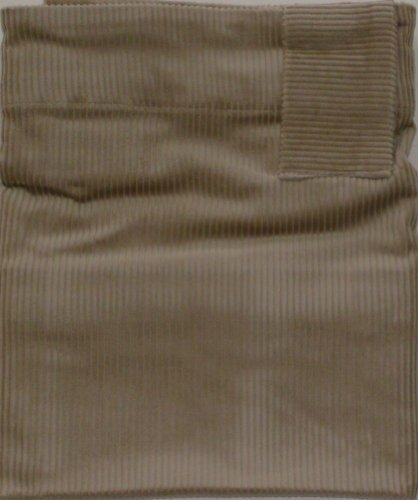 NorthCrest Home Remington Tan Corduroy Window Valance Belt Loop Curtain Topper
