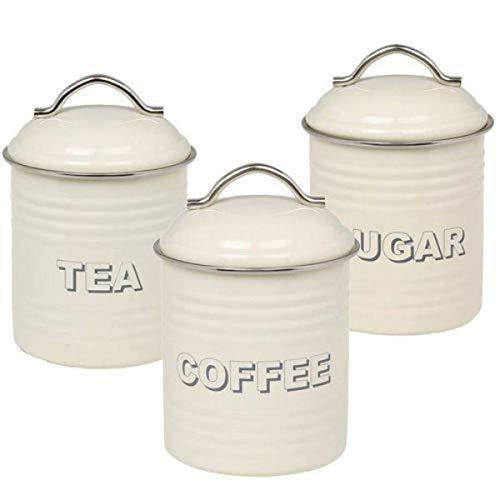 Crema Contenitore Set tè caffè zucchero. Codice 2222SET