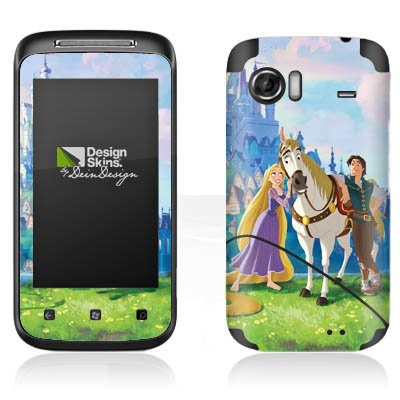 DeinDesign HTC 7 Mozart Case Skin Sticker aus Vinyl-Folie Aufkleber Disney Rapunzel ? Neu verföhnt Merchandise Geschenke
