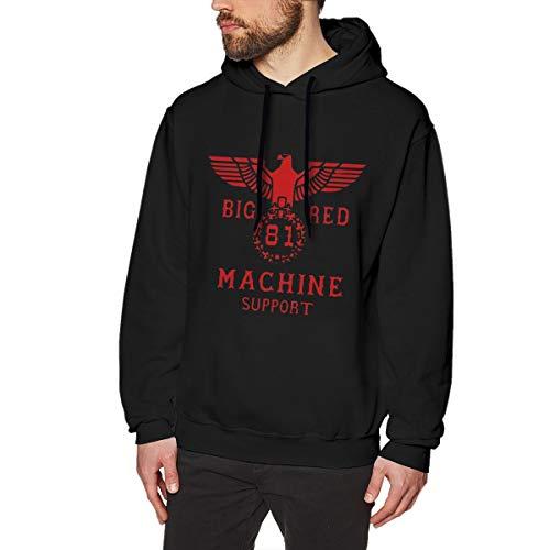 Big Red 81 Machine Support Herren Hoodie Sweatshirt Schwarz XL