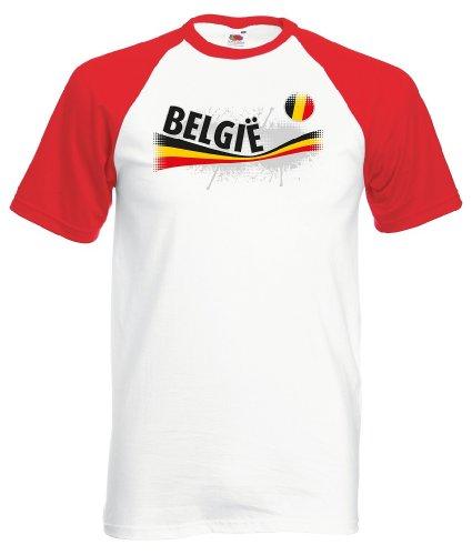 Fruit of the Loom Belgie/Belgien Herren T-Shirt Vintage Baseball Trikot|L