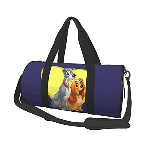 Anime Lady Tramp Cool Duffel Bag Folle Gym Bag Bolsas de viaje, para deportes militares, acampar, actividades al aire libre, bolsas de mano, juegos de 47 x 22 cm