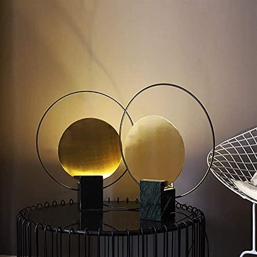 Lámpara Escritorio Lámpara de mesa creativa minimalista posmoderna nórdica lámpara de mesa de mármol de sala de exposición lámpara decorativa de dormitorio de aprendizaje personalizado 41 * 47 cm (col