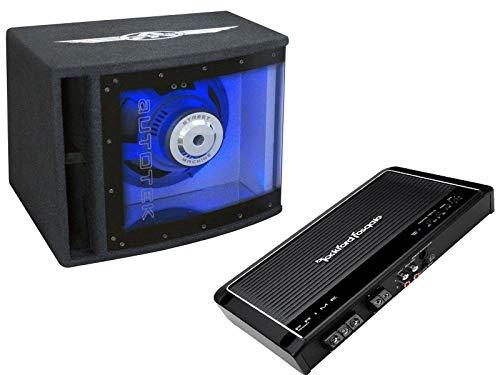 Autotek Rockford Fosgate Basspaket Set 25 cm Subwoofer Mono Verstärker 500 Watt