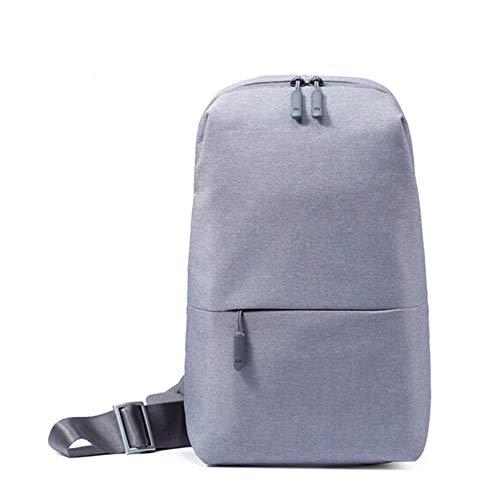 Xiaomi Mi City Sling bag ZJB4070GL, Borsa a tracolla in poliestere, Unisex, 4 L, Grigio Chiaro