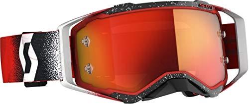 Scott Prospect MX Goggle Cross/MTB Brille weiß/rot/orange Chrom Works