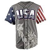 Greater Half Jersey: Liberty Edition Grey America #1 Jersey (M)